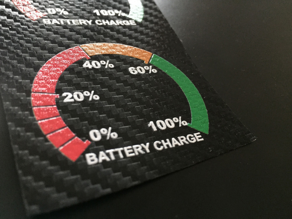 Battery Label Autoadesive
